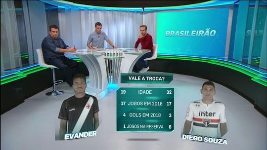 Roger considera possível troca Evander por Diego Souza favorável ao Vasco