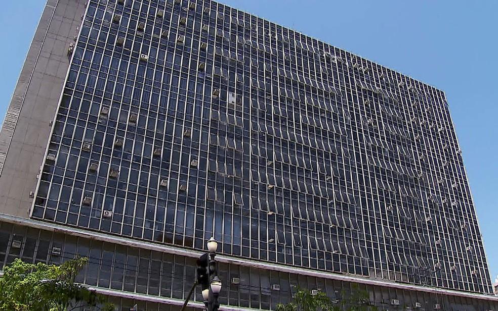 Fachada da Câmara Municipal de São Paulo, no Centro da capital — Foto: Reprodução/TV Globo