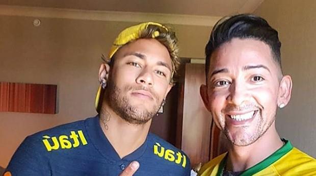 Neymar e Tenório: dupla afinada  (Foto: Reprodução / Instagram)
