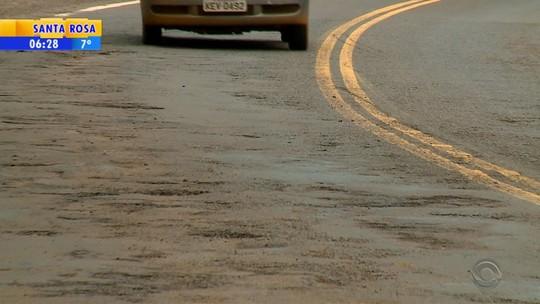 Motoristas reclamam de buracos e falta de sinalização na ERS-307, no Noroeste do Rio Grande do Sul