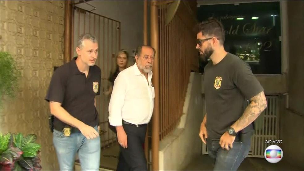 Presidente da Codesp foi preso no Rio de Janeiro na primeira fase da Operação Tritão  — Foto: Reprodução/TV Globo