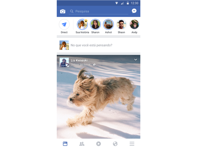 Assim como no Instagram, Stories irá mostrar imagens por até 24 horas (Foto: Divulgação/Facebook) (Foto: Assim como no Instagram, Stories irá mostrar imagens por até 24 horas (Foto: Divulgação/Facebook))