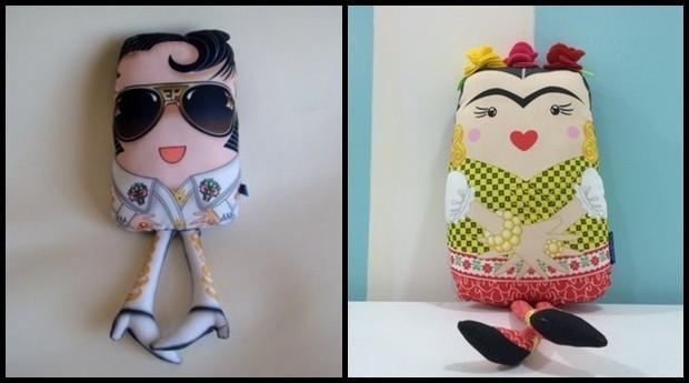 Almofadas de Elvis e Frida (Foto: Divulgação)