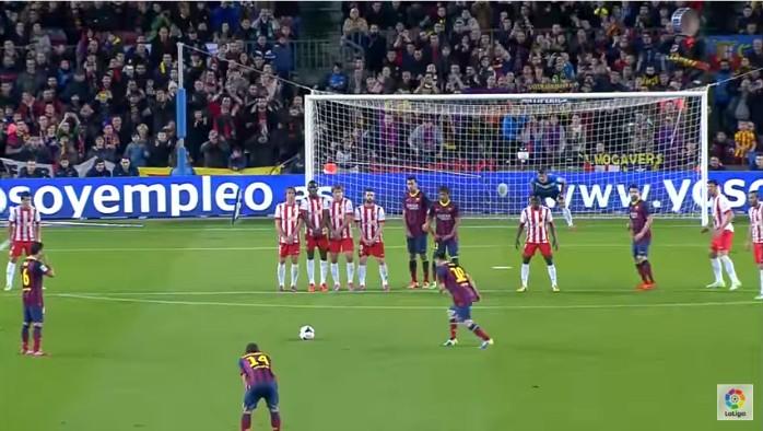 Top-10 gols falta Messi Barcelona