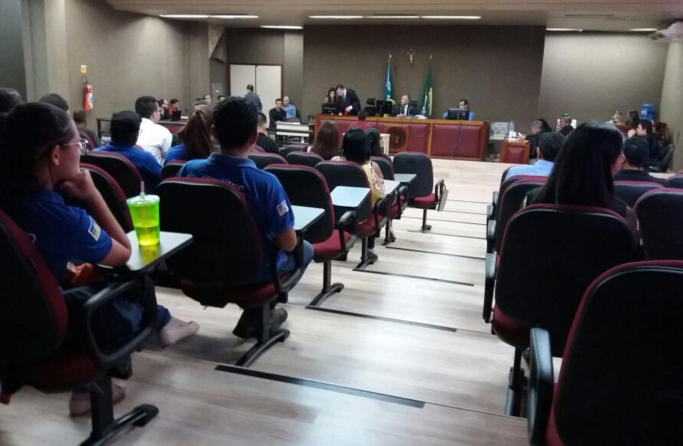 -  Testemunhas são ouvidas pelo júri nesta quarta-feira  13 , em Macapá  Foto: Jorge Abreu/G1