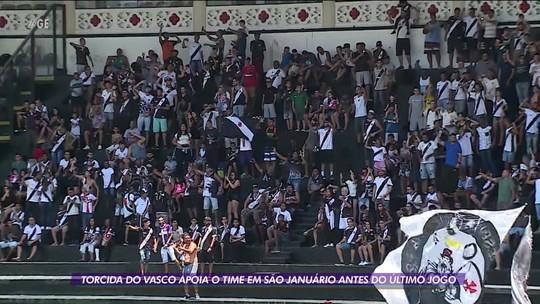 Torcida do Vasco marca presença em São Januário último treino aberto de 2019