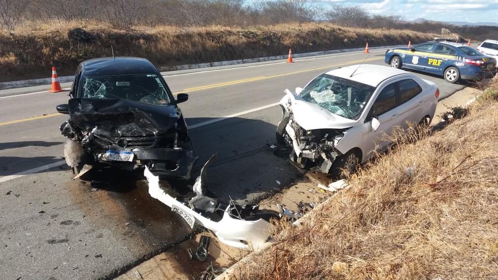 Homem morre e outros dois ficam feridos em acidente na BR-226, no RN — Foto: Cedida
