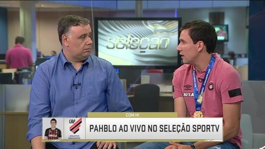 """Cria da base do Athletico-PR, Pablo exalta técnico e comemora título: """"Emoção que ficará para sempre"""""""