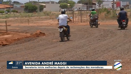 Secretaria faz melhorias depois de reclamações dos moradores na Av: André Maggi