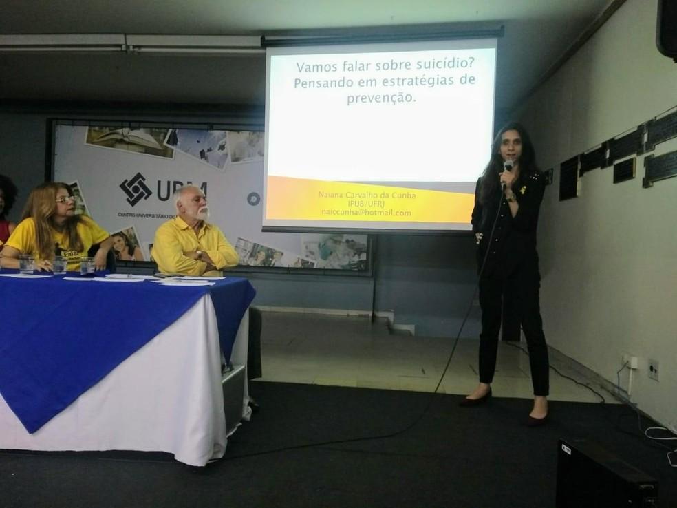 Psicóloga Naiana Carvalho reforça importância da campanha Janeiro Branco — Foto: Arquivo Pessoal/Naiana Carvalho