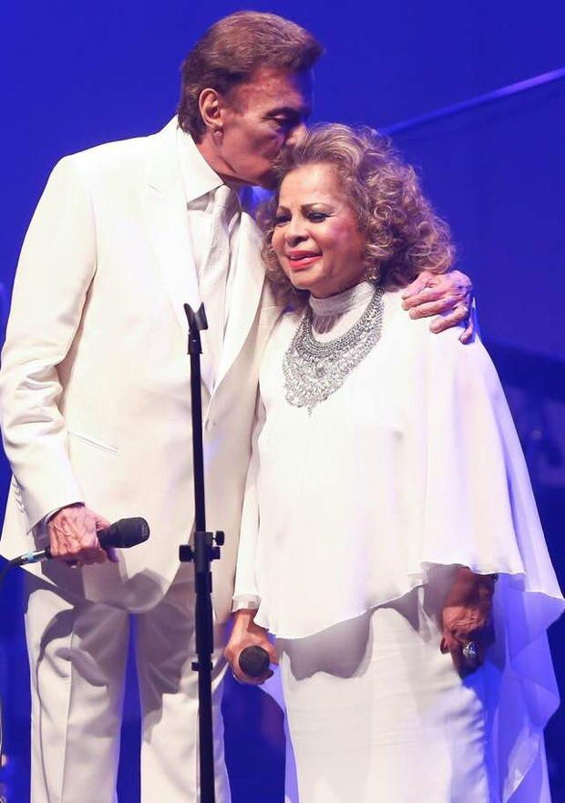 Angela Maria e Agnaldo Rayol (Foto: Reprodução/Facebook)