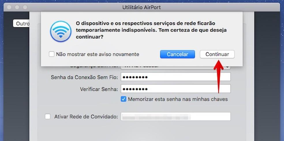 Reinicie o AirPort (Foto: Reprodução/Helito Bijora)
