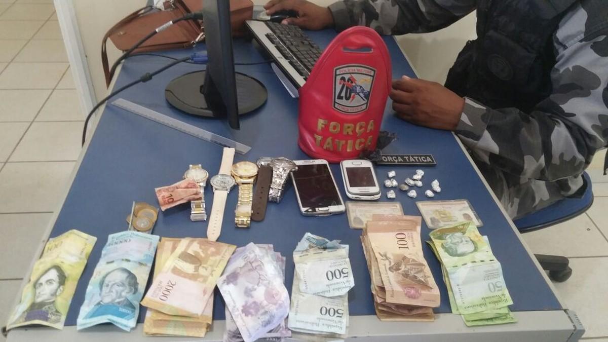 Casal é preso suspeito de tráfico de drogas em Pacaraima, Norte de RR
