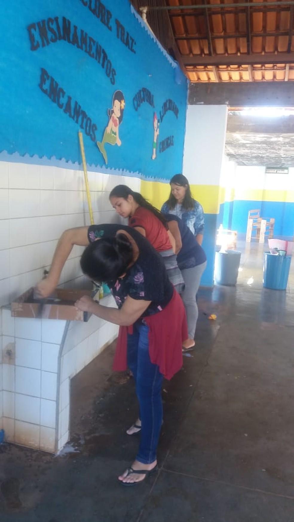 Aulas deverão ser retomadas nesta quinta (5) — Foto: Escola Municipal Eva Ruas / Divulgação