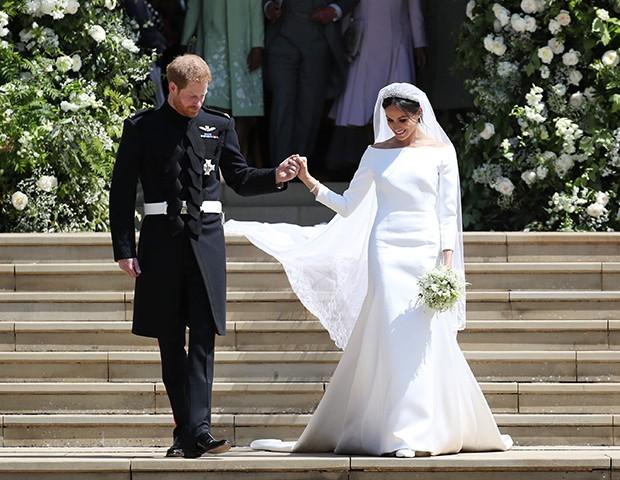 O vestido de noiva de Meghan Markle (Foto: Getty Images)