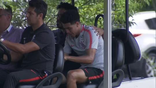 Marquinhos Gabriel machuca joelho e desfalca Corinthians por pelo menos um mês
