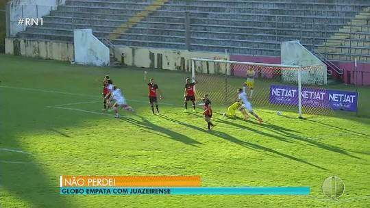 """Técnico elogia recuperação do Globo FC para empatar duelo: """"Não desistimos"""""""