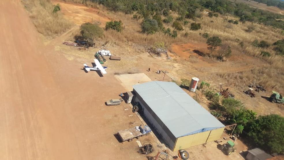 Apreensão de drogas ocorreu na zona rural de Formoso do Araguaia (Foto: CIOPAER-TO/Divulgação)
