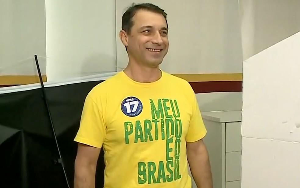 Comandante Moisés, candidato ao governo de Santa Catarina — Foto: Reprodução/NSC TV