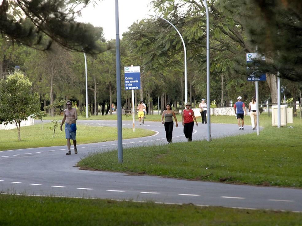Pessoas se exercitando no Parque da Cidade em Brasília (Foto: Parque da Cidade/Divulgação)