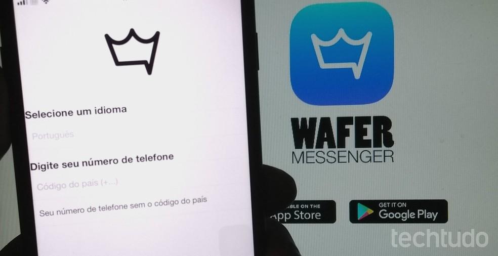 Wafer Messenger bate de frente com o mensageiro concorrente WhatsApp — Foto: Rodrigo Fernandes/TechTudo