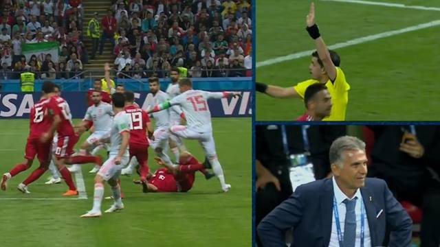 Gol iraniano é anulado com auxílio do VAR