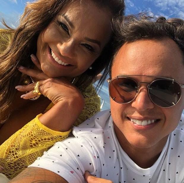 Solange Couto e marido  (Foto: Reprodução)