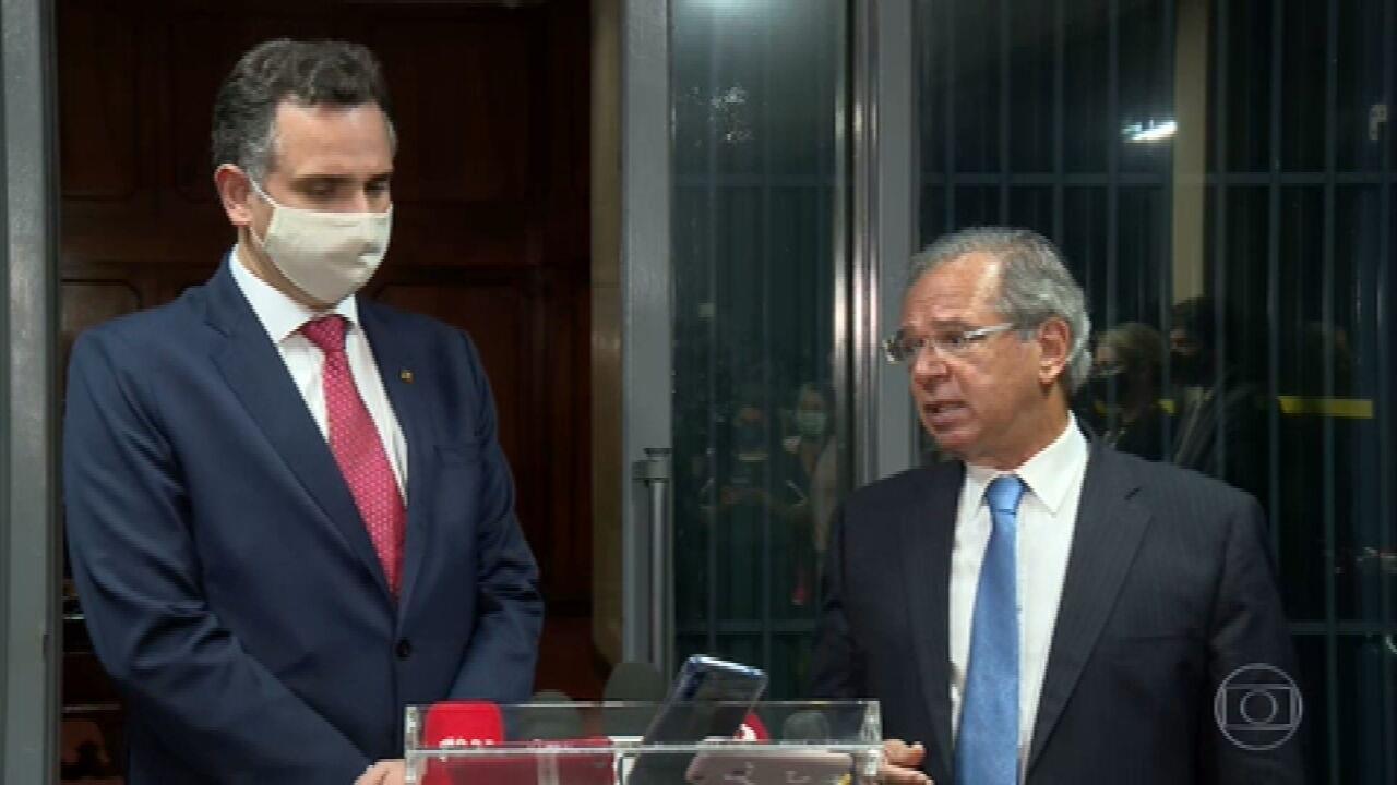 Guedes disse que pode voltar a pagar o auxílio emergencial