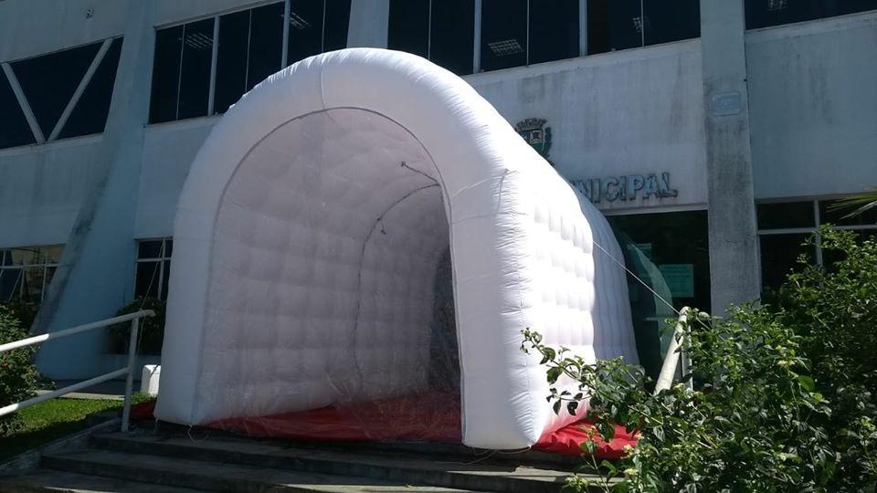 Empresários doam túnel de desinfecção para o combate ao coronavírus em Boituva