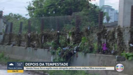 Mulher e criança morrem levadas por enxurrada em Belo Horizonte