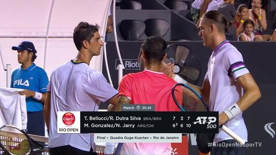 Bellucci e Rogerinho saem na frente, mas levam virada e ficam com o vice no Rio Open