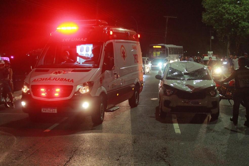 Vítima morreu na viatura do Samu — Foto: Rickardo Marques/G1 AM