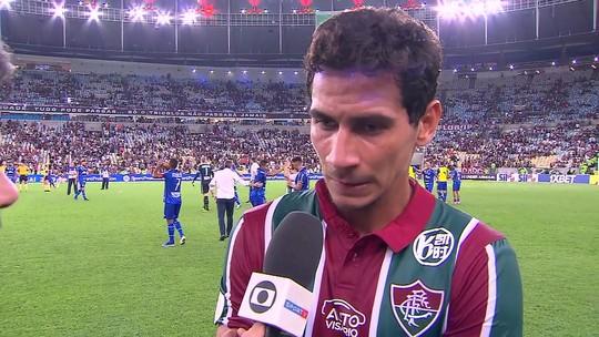 """Ganso poupa Fluminense de Diniz de críticas: """"Não acredito que seja problema de treinador"""""""