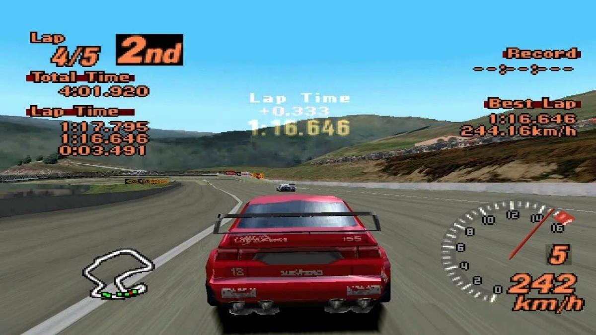 Gran Turismo 2, lançado em 1999 para PlayStation 1 (Foto: Divulgação)