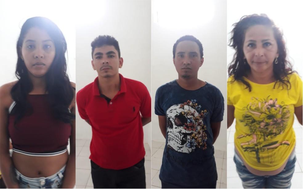 Presos são suspeitos de táfico de drogas em Araguaína — Foto: Divulgação/Polícia Civil