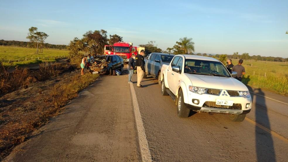 Vice-prefeito de Cáceres e outras 3 pessoas sofrem acidente em BR-070 em MT — Foto: Divulgação