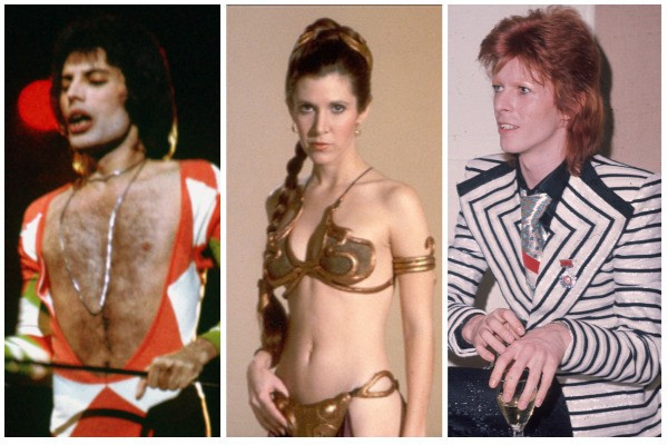 Freddie Mercury, Carrie Fisher e David Bowie (Foto: Getty Images / Divulgação)