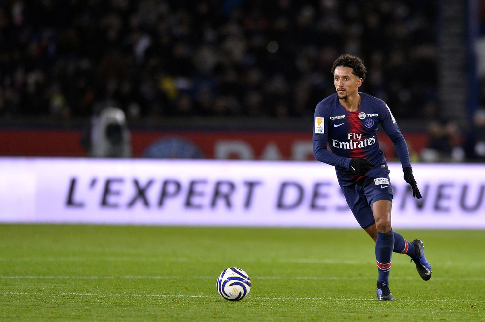 Marquinhos atuou como volante na derrota do Paris Saint-Germain para o Guingamp  â?? Foto: Aurelien Meunier - PSG/PSG via Getty Images