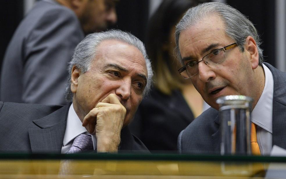 O presidente Michel Temer e o deputado cassado Eduardo Cunha (PMDB-RJ) (Foto: Marcello Casal/Agência Brasil)