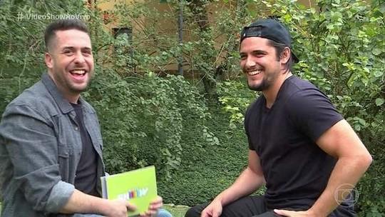 Maurício Meirelles faz entrevista 'indiscreta' com Bruno Gissoni em sua estreia no 'Vídeo Show'