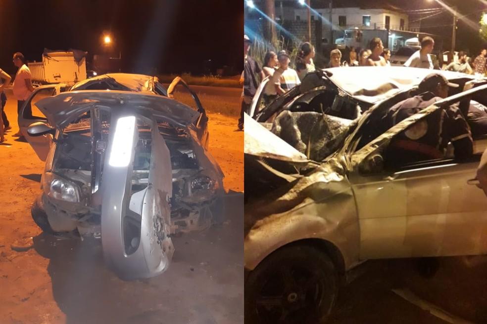 Veículo capotou na Rodovia BR-163, em Santarém — Foto: Divulgação/PRF