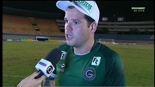 """Tiago Luís diz que falta ao Goiás """"guerrear"""" mais nos jogos: """"Não conseguimos"""""""