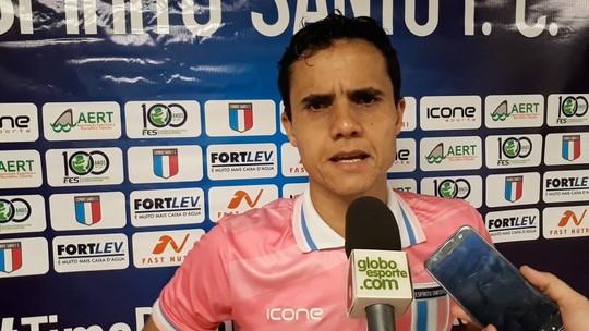 Thiago Martinelli diz que vai treinar pênaltis para o 2º jogo da final da Copa ES