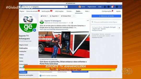 Siga o perfil do Globo Esporte GO nas redes sociais