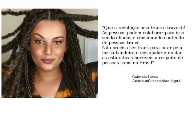 Gabriela Loran é trans e travesti e está escalada para 'Arcanjo renegado', do Globoplay (Foto: Reprodução)