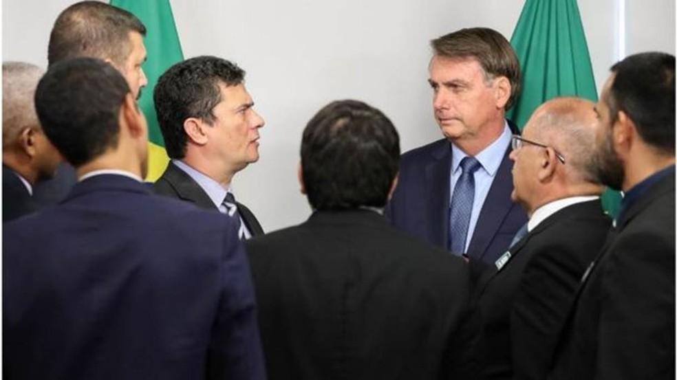 Bolsonaro exonerou Valeixo do comando da PF em decisão publicada no Diário Oficial — Foto: MARCOS CORRÊA/PR