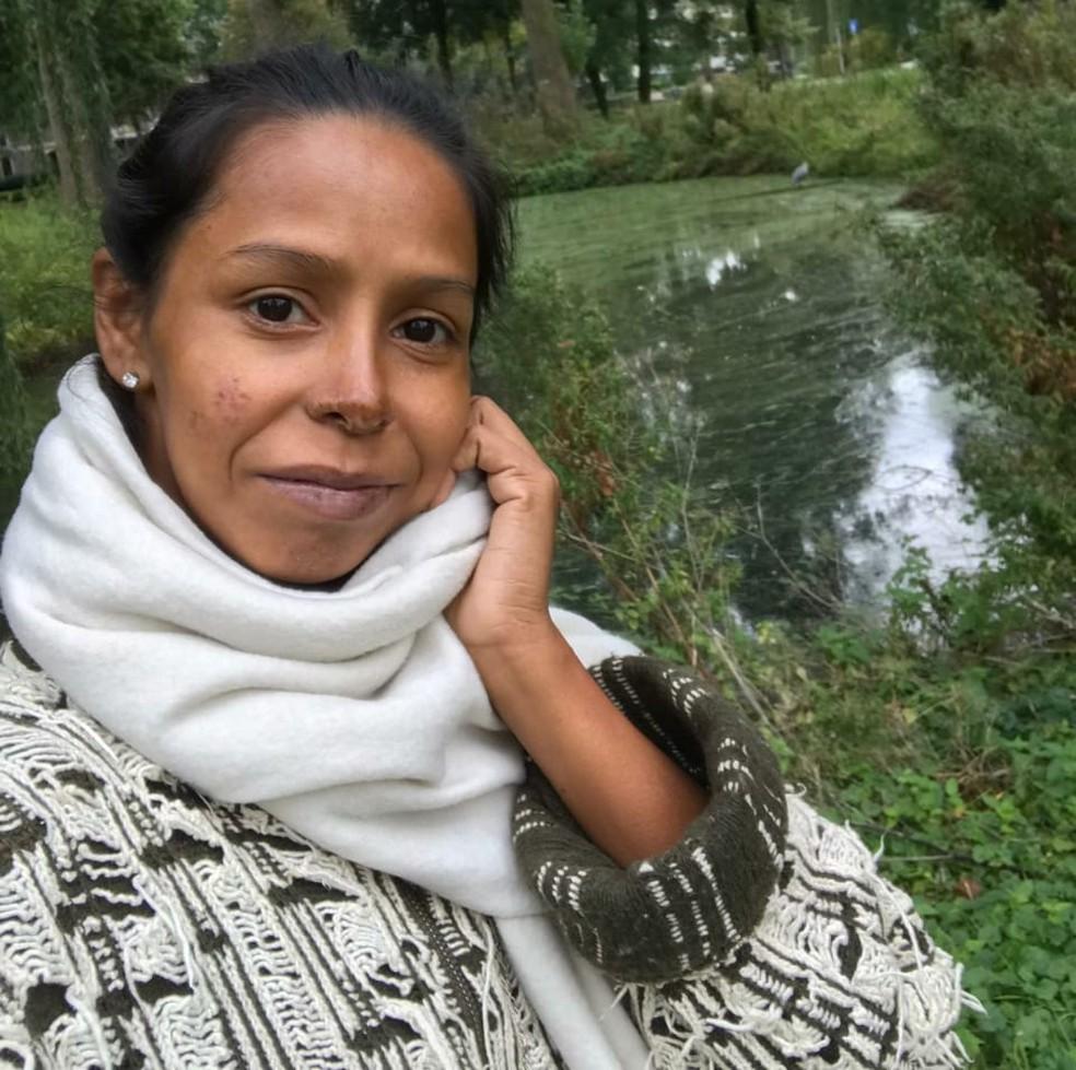 Patrícia de Oliveira dos Santos deixou o Brasil no dia 28 de setembro para encontrar o namorado holandês — Foto: Arquivo Pessoal