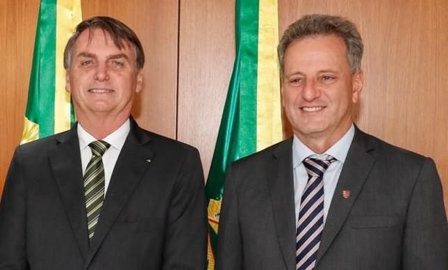 Bolsonaro e Landim em Brasília