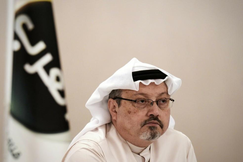 Jamal Khashoggi, jornalista crítico ao governo da Arábia Saudita, desapareceu após entrar no consulado do seu país em Istambul — Foto: Mohammed al-Shaikh/AFP