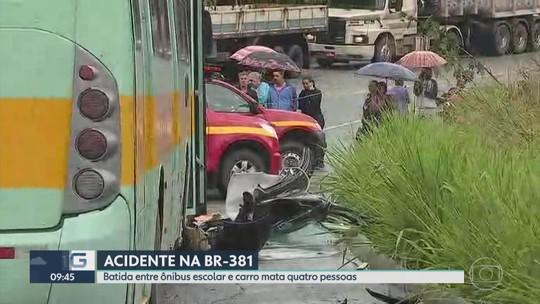 Acidentes deixam seis mortos na BR-381, em Sabará